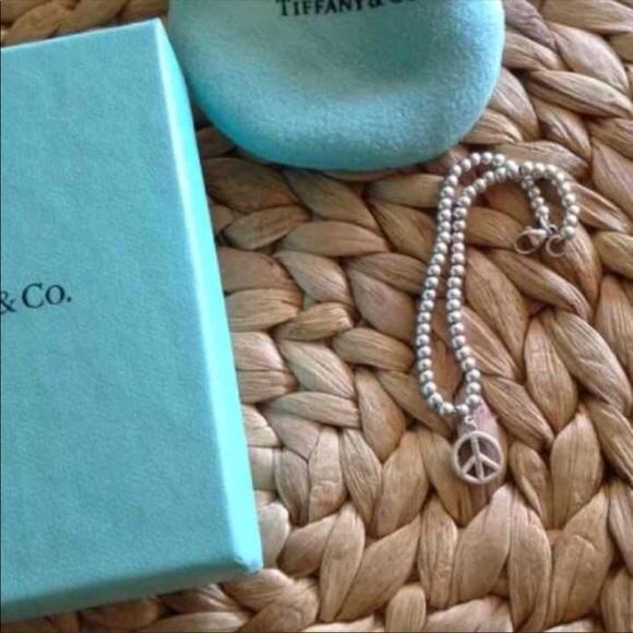 0f2040603c789 Tiffany & Co. Mini Bead Charm Bracelet Peace Sign